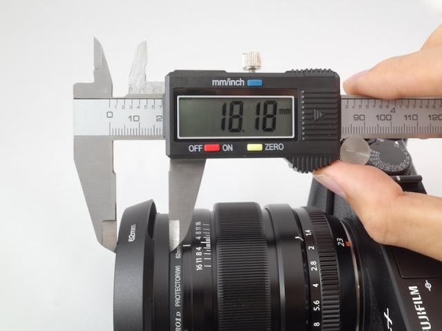 XF23のLeica風レンズフード