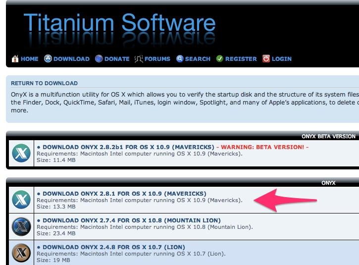 MacのメンテナンスソフトOnyxの使い方