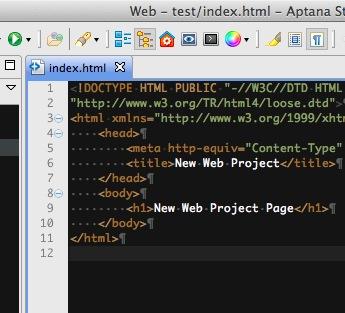aptanaで空白文字を表示する方法