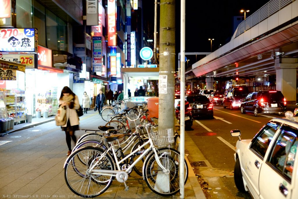 X-E2とXF23mmで撮影した夜景スナップ写真
