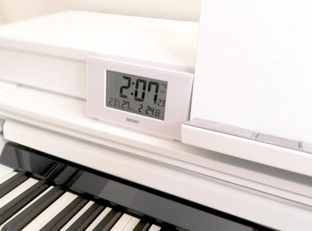 ピアノ用卓上電波時計