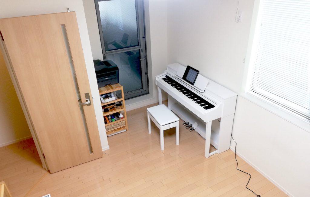 ピアノ組み立て完了